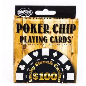 Poker Chip Circular Playing Cards