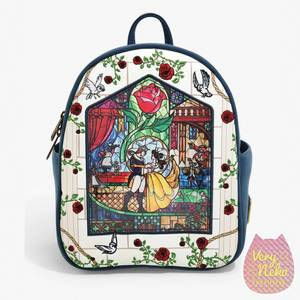 Loungefly Disney Beauty And The Beast Stained Glass Mini Backpack - VeryNeko Exclusive