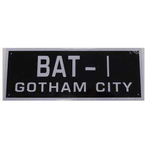 DC Comics Batman Batmobile License Plate Prop Replica
