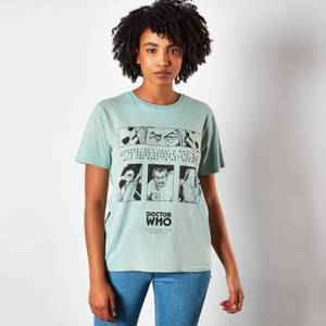 Doctor Who Third Doctor Unisex T-Shirt - Mint Acid Wash