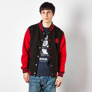 Doctor Who Gallifreyan Varsity Men's Varsity Jacket - Black/Red
