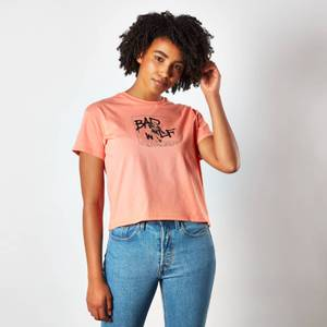 T-Shirt Doctor Who Bad Wolf Femme Cropped - Coral