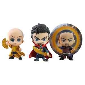 Hot Toys Cosbaby Marvel Vengadores: Endgame - Figura de Doctor Strange y Ancient One y Wong (Set de 3)