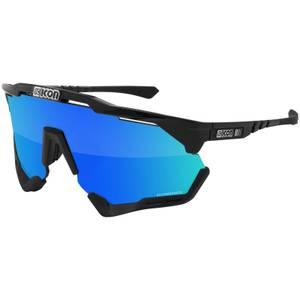 Scicon Aeroshade XL Road Sunglasses - Black Gloss/SCNPP Multimirror Blue