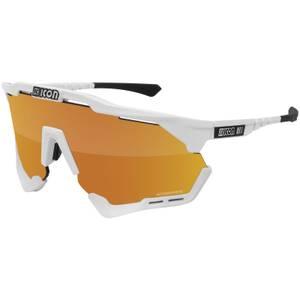 Scicon Aeroshade XL Road Sunglasses - White Gloss/SCNPP Multimirror Bronze