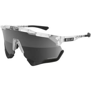 Scicon Aeroshade XL Road Sunglasses - Crystal Gloss/SCNPP Multimirror Silver