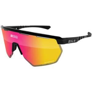Scicon Aerowing Road Sunglasses - Black Gloss/SCNPP Multimirror Red