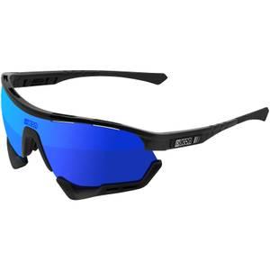 Scicon Aerotech XL Road Sunglasses - Black Gloss/SCNPP Multilaser Blue