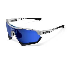 Scicon Aerotech XL NTT Pro Cycling 2020 Edition Sunglasses - Frozen Matte/SCNPP Multilaser Blue