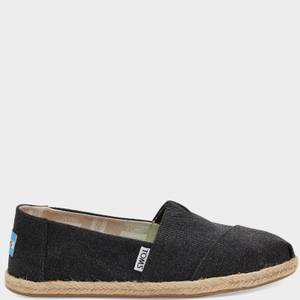 TOMS Women's Alpargata Rope Slip-On Pumps - Black