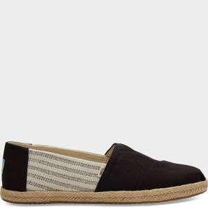 TOMS Men's Alpargata Rope Slip-On Pumps - Black