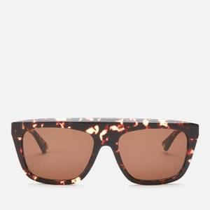 Bottega Veneta Women's Flat Arch Sunglasses - Havana/Brown