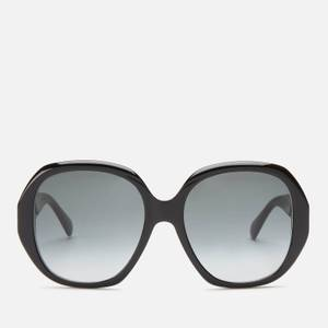 Bottega Veneta Women's Square Frame Sunglasses - Black/Gold/Grey