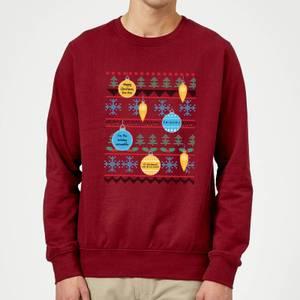 Friends Baubles Sweatshirt - Burgundy