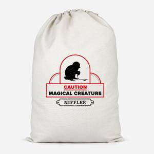 Caution Magical Creature Cotton Storage Bag