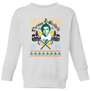 Elf Ninny Muggins Kids' Sweatshirt - White
