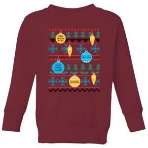 Friends Baubles Kids' Sweatshirt - Burgundy