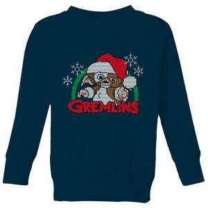 Gremlins Another Reason To Hate Christmas Kids' Sweatshirt - Navy