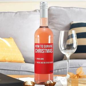 WotNot Creations 'Survive Christmas' Wine