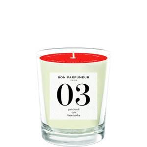 Bon Parfumeur 03 Patchouli Leather Tonka Bean Candle 180g