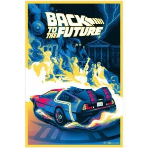 Back to the Future Screenprint by Bella Grace