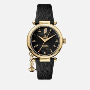Vivienne Westwood Women's Orb Heart Watch - Black/Gold