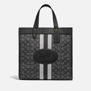 Coach Women's Signature Jacquard Field Exclusive Tote Bag - Graphite Black