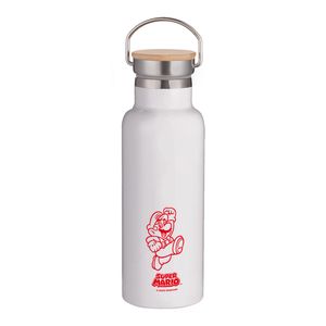 Nintendo Super Mario Bamboo Lid Water Bottle - White