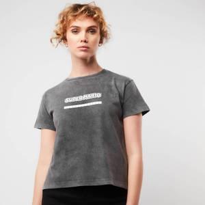Cropped T-Shirt Femme Nintendo Super Mario - Noir Délavé