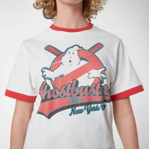 Ghostbusters Baseball Unisex T-Shirt Ringer - White/Red