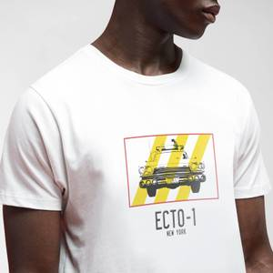 Ghostbusters Ecto-1 Men's T-Shirt - White