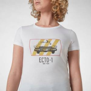 Ghostbusters Ecto-1 Femme T-Shirt - Blanc