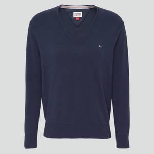 Tommy Jeans Women's Tjw Soft Touch V-Neck Sweater - Twilight Navy