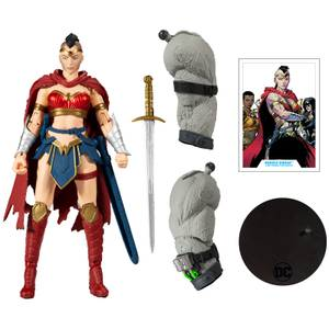"McFarlane Toys DC Build-A 7"" Figures Wv3 - Last Knight On Earth - Wonder Woman Action Figure"