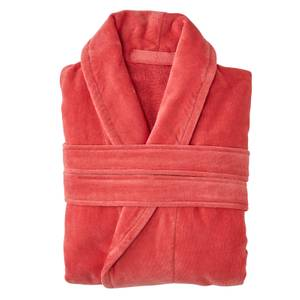 Christy Supreme Velour Cotton Dressing Gown - Coral