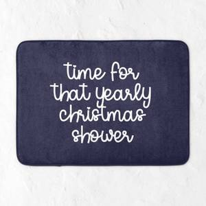 Time For That Yearly Christmas Shower Bath Mat