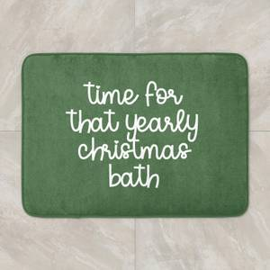 Time For That Yearly Christmas Bath Bath Mat