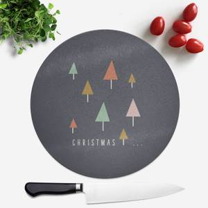Christmas Round Chopping Board