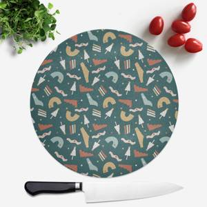 Christmas Pattern Round Chopping Board