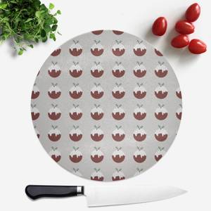 Christmas Pud Round Chopping Board