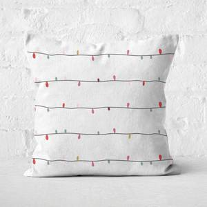 Christmas Lights Square Cushion