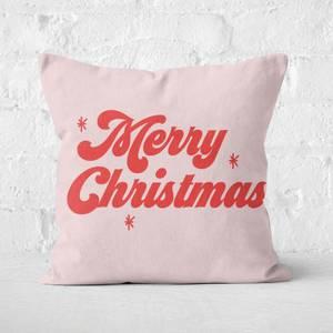 Merry Christmas Square Cushion