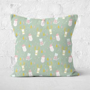 Christmas Print Square Cushion