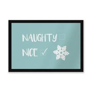 Naughty Nice Tick Entrance Mat