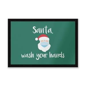 Santa Wash Your Hands Entrance Mat