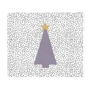 Spotty Christmas Fleece Blanket