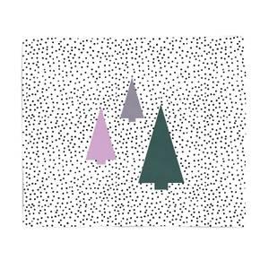 Spotty Trees Fleece Blanket