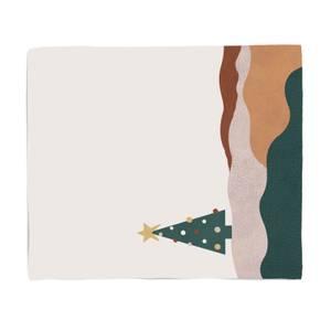 Christmas Abstract Landscape Fleece Blanket