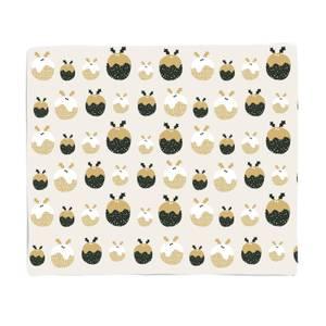 Cream Christmas Pudding Pattern Fleece Blanket