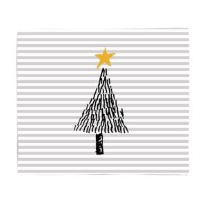 Christmas Tree Stripes Fleece Blanket